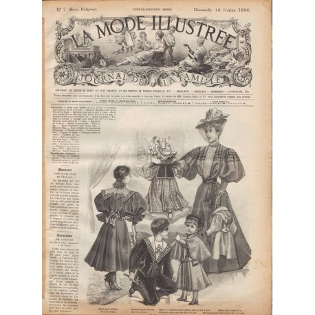 Complete magazine La Mode Illustrée 1896 N°7