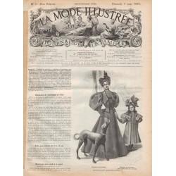 Jupe avec corselet La Mode Illustrée 1896 N°10