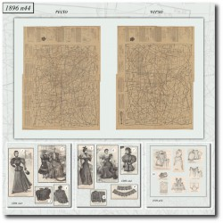 Sewing patterns dolls dress 1896 N°44