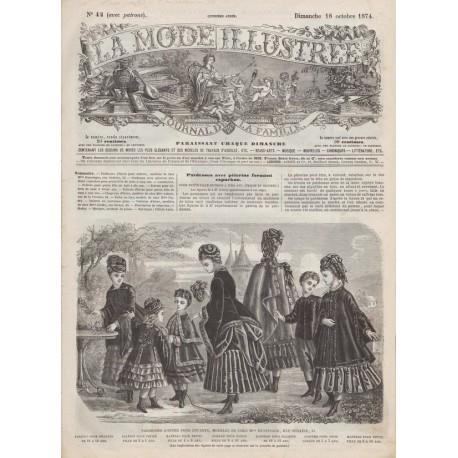 Complete magazine La Mode Illustrée 1874 N°42