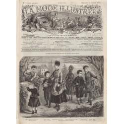 Complete magazine La Mode Illustrée 1874 N°01