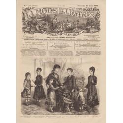 Revue La Mode Illustrée 1879 N°7