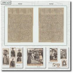 Patrons de La Mode Illustrée 1891 N°25