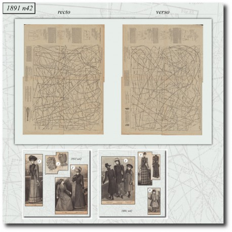 Sewing patterns coat La Mode Illustrée 1891 N°42