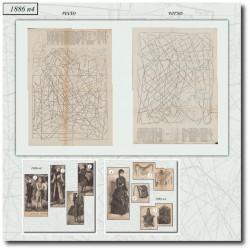 Patrons de La Mode Illustrée 1886 N°4