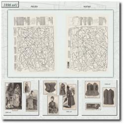 Patrons de La Mode Illustrée 1886 N°41