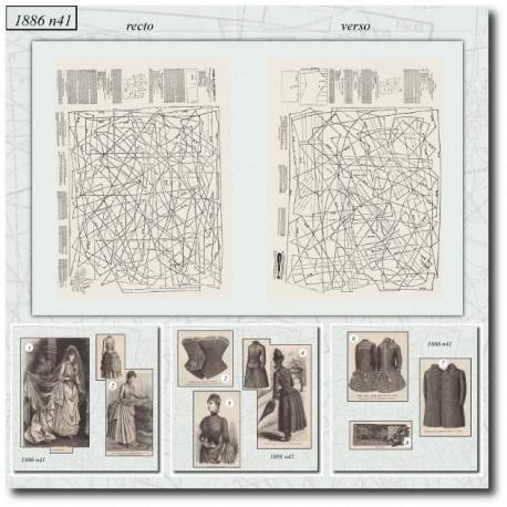 Sewing patterns La Mode Illustrée 1886 N°41