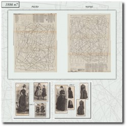 Patrons d'amazone de La Mode Illustrée 1886 N°7