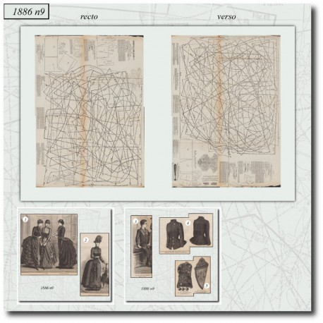 Sewing patterns dress La Mode Illustrée 1886 N°9