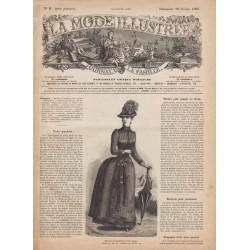 Complete magazine La Mode Illustrée 1886 N°9