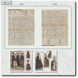 Patrons de manteau marion delorme La Mode Illustrée 1886 N°13