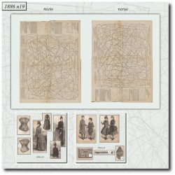 Patrons de corset La Mode Illustrée 1886 N°19