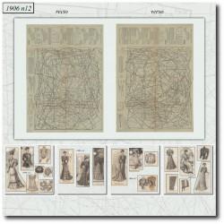 Sewing patterns La Mode Illustrée 1906 N°12