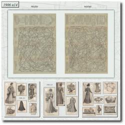 Sewing patterns La Mode Illustrée 1906 N°14