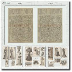 Sewing patterns La Mode Illustrée 1906 N°16 dresses