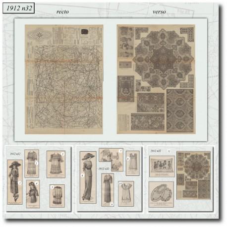 Sewing patterns La Mode Illustrée 1912 N°32