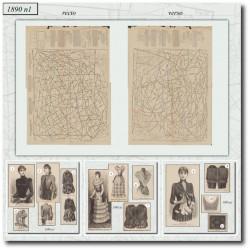 Patrons de La Mode Illustrée 1890 N°1