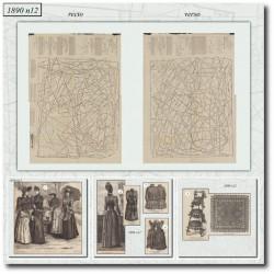 Patrons de La Mode Illustrée 1890 N°12
