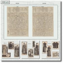 Patrons de La Mode Illustrée 1890 N°16