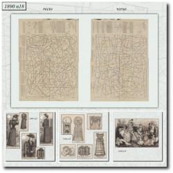 Patrons de La Mode Illustrée 1890 N°18