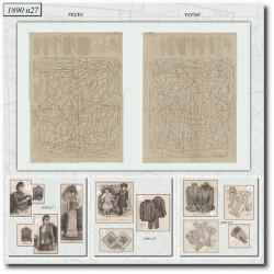 Sewing patterns La Mode Illustrée 1890 N°27