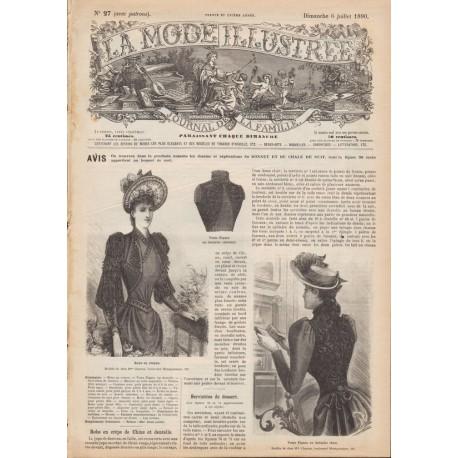 Complete magazine La Mode Illustrée 1890 N°27