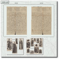 Patrons de La Mode Illustrée 1890 N°36