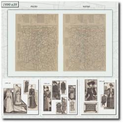 Patrons de La Mode Illustrée 1890 N°38
