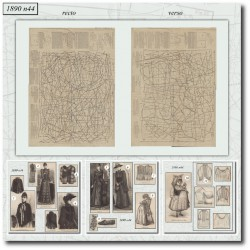 Patrons de La Mode Illustrée 1890 N°44