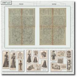 Patrons de La Mode Illustrée 1907 N°11