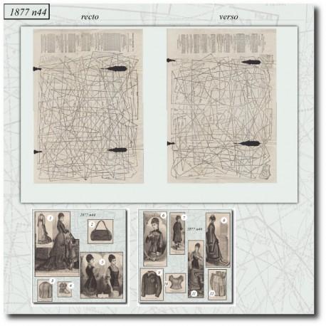 Patrons de La Mode Illustrée 1877 N°44