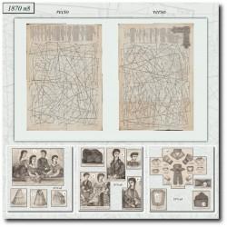 Patrons anciens de La Mode Illustrée 1870 N°08