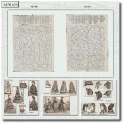 Patrons de La Mode Illustrée 1870 N°20