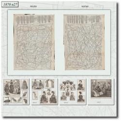 Patrons de La Mode Illustrée 1870 N°27