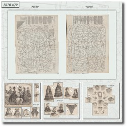 Patrons de La Mode Illustrée 1870 N°29