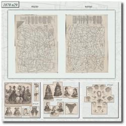 Sewing patterns Mode Illustrée 1870 29