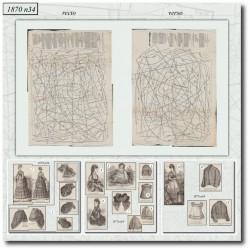 Old sewing patterns Mode Illustrée 1870 34