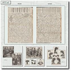 Patrons de La Mode Illustrée 1871 N°01