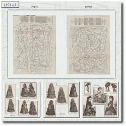 Patrons de La Mode Illustrée 1871 N°03