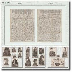 Patrons anciens de La Mode Illustrée 1871 N°10