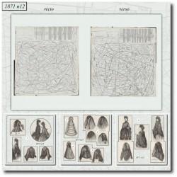 Patrons de La Mode Illustrée 1871 N°12