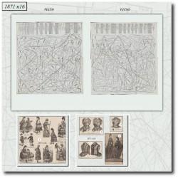 Patrons de La Mode Illustrée 1871 N°16