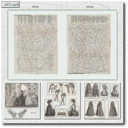 Patrons de La Mode Illustrée 1871 N°18