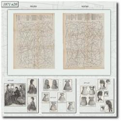 Patrons anciens de La Mode Illustrée 1871 N°20