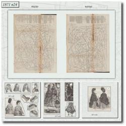Patrons de La Mode Illustrée 1871 N°26