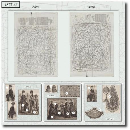 Old sewing patterns La Mode Illustrée 1875 N°06