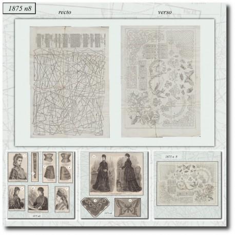 Old sewing patterns La Mode Illustrée 1875 N°08