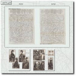 Sewing patterns La Mode Illustrée 1875 N°25