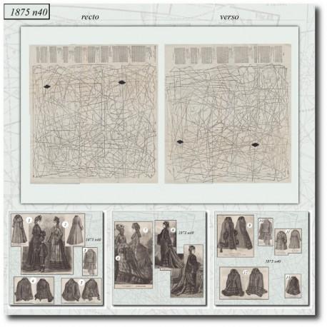 Patrons de La Mode Illustrée 1875 N°40