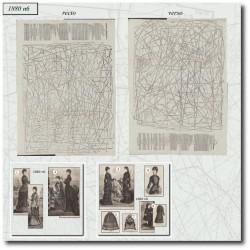Sewing patterns La Mode Illustrée 1880 N°06